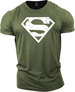 Mens Bodybuilding T-Shirt - Superman Vascular - Gym Training Top