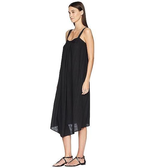 vestido Drape Vince negro cuello de 4OxZvwB5qa