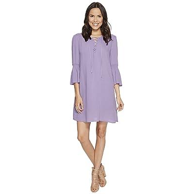 Jack by BB Dakota Simone Rayon Crepe Lace Front Dress + Slip (Lavender Purple) Women