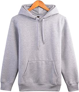 Wishment Women Asian Size Long Sleeve Lovers Classic Hoodies Couple Sweatshirt Hooded Pullover
