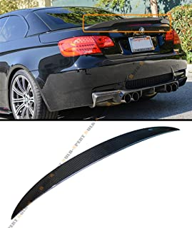 Cuztom Tuning Fits for 2007-2012 BMW E93 3 Series & E93 M3 Convertible High Kick Performance Style Carbon Fiber Trunk Spoiler Wing