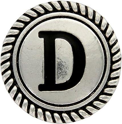 "Y Cross Brand Wild Rag Scarf Slide 1 1/8'' Alphabet Letter ""D"" Initial"
