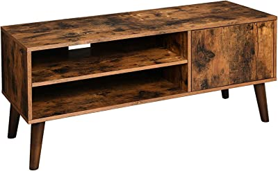 VASAGLE Retro TV Stand, TV Console for TVs up to 43 Inches, Mid-Century Modern Entertainment Centre for Flat Screen TV, Gaming Consoles, in Living Room, Entertainment Room, Office, Brown ULTV09BX