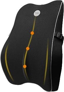 腰クッション 低反発 GOOJODOQ 車用 腰枕 ランバーサポート オフィス 椅子用クッション 背中クッション 通気 取付バンド調節可能 カバー洗える