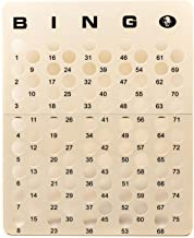 MR CHIPS Professional Bingo Masterboard for Ping Pong Bingo Balls - Cream Color - Numbered