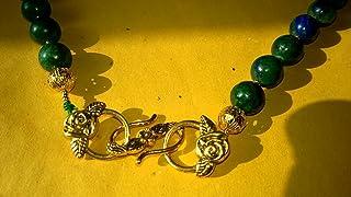 Collana blu/verde crisocolla, Stile antica Roma chiusura S italica