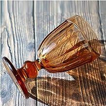 MeiZi Vintage Rode Wijnglas Cup High-End Kleurrijke Goblet Hosehold Juice Glas Bar Cocktail Whisky Cup (Color : Coffee)