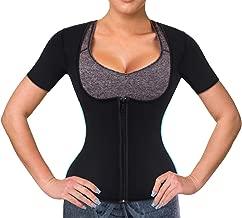 Wonderience Women Sauna Suit Waist Trainer Neoprene Shirt for Sport Workout Weight Loss Corset Hot Body Shaper Top