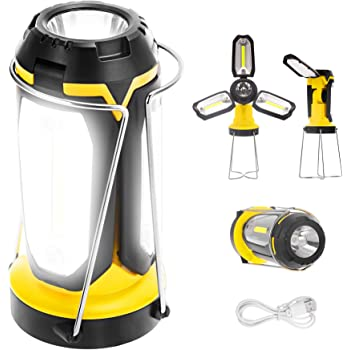 Portable Lamp for Camping LED Lantern Hiking Tent Flash Light Battery Outdoor UK