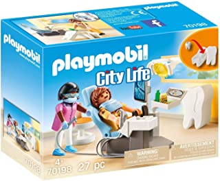 PLAYMOBIL Dentist Playset, Colourful, One Size (70198)
