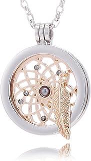 Morella Damen Halskette 70 cm Edelstahl und Anhänger mit Coin 33 mm in Schmuckbeutel