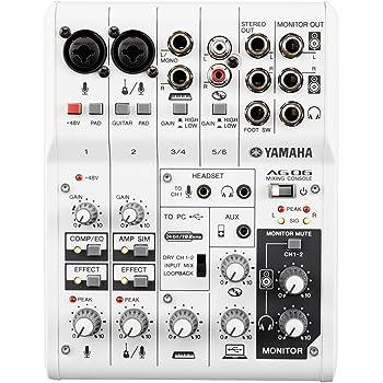 ヤマハ YAMAHA ウェブキャスティングミキサー オーディオインターフェース 6チャンネル AG06 インターネット配信に便利な機能付き 音楽制作アプリケーションCubasis LE対応