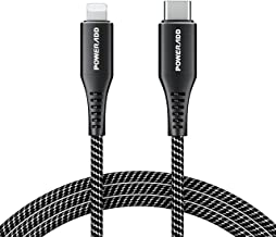 POWERADD USB C to Lightning Cable 3.3ft [Apple MFi Certified] Nylon Braided Fast Charging and Sync Cord for iPhone 11/11 Pro/11 Pro Max/XS Max/XS/XR/X/8 Plus/8, iPad and More(Support Power Delivery)