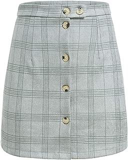 Mini Skirt A-line high Waist Bodycon Pencil Skirt Short Skirts Autumn Winter Women Casual