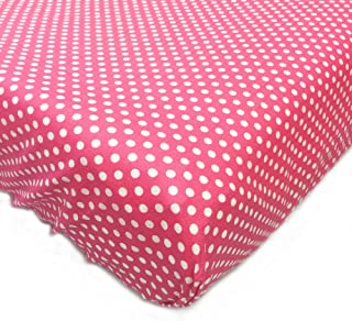 One Grace Place Simplicity Hot Pink Crib Sheet, Hot Pink and White