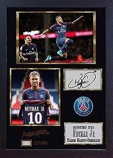 S&E DESING Neymar JR Paris Saint Germain Brazil Print Signed Autograph Framed Photo