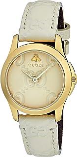 Gucci - Reloj Análogo clásico para Mujer de Cuarzo con Correa en Cuero YA126580