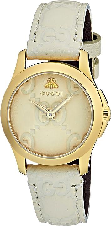 Orologio da donna gucci analogico classico quarzo con cinturino in pelle ya126580