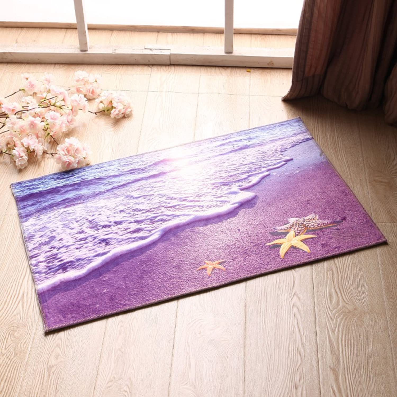 Indoor mats European-Style Floor mats Household Living Room Bedroom mats Bathroom Kitchen Hall Water Skid pad-A 100x160cm(39x63inch)