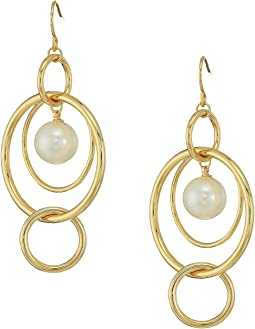 LAUREN Ralph Lauren Pearl Update Orbital Linear Post Earrings