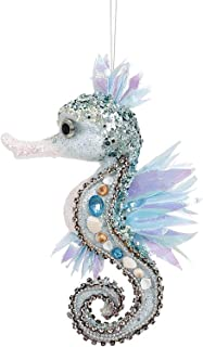 Mark Roberts Coastal Christmas Collection Large Beaded Seahorse Ornament 3-Dimensional 9x5x3 Inch, 1 Ea