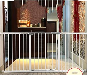 YONGYONG-Guardrail Pressure Mount Baby Safety Gates For Stairs Dual Lock Walk Through Pet Dog Fence Self Closing Kitchen Balcony Isolation Railing  Color High79cm width  Size 186-193cm