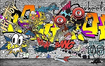 Fotomurale 3D - Graffiti europeo y americano 150x105 cm - 3 tiras Papel pintado tejido no tejido Fotomural Moderna para Dormitorio Sala de Niños Pasillo TV Decoración de Fondo
