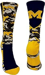 TCK Michigan Wolverines Camo Crew Socks