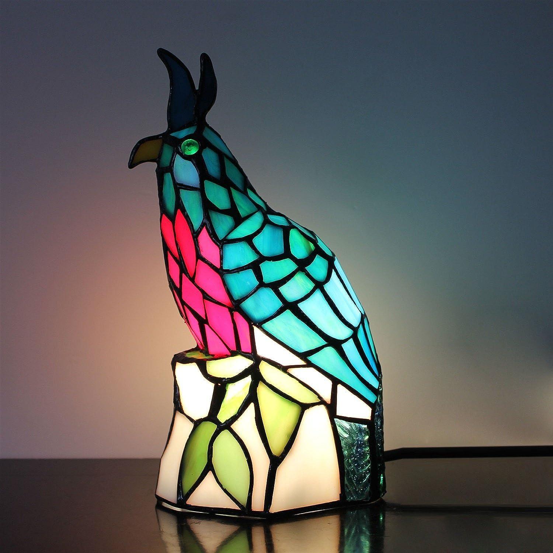 Gweat Retro Grün Little Bird Tischlampe Kinder Lampe Nachtlicht