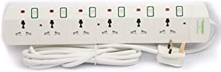 6 Way Universal Power Extension Socket with 3M Cable TPB-6G