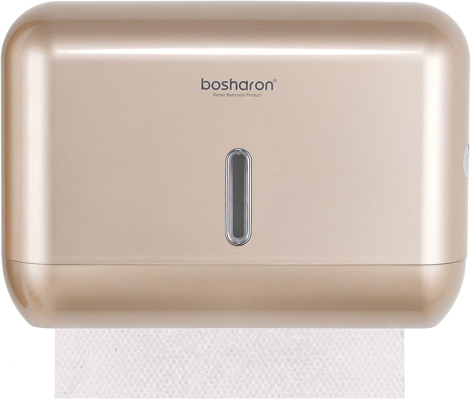 Paper Towel Dispenser Wall Mounted, Paper Towel Dispenser for Home Bathroom or Commercial, Hand Towel and Tissue Dispenser (Gold)