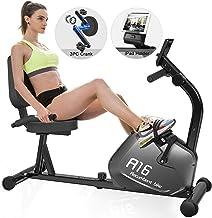 دراجة تدريب SNODE المغناطيسية مع 8 مستويات مقاومة، تمارين القلب الداخلية مع قدرة وزن 136 كجم للياقة المنزلية (الموديل: R16...