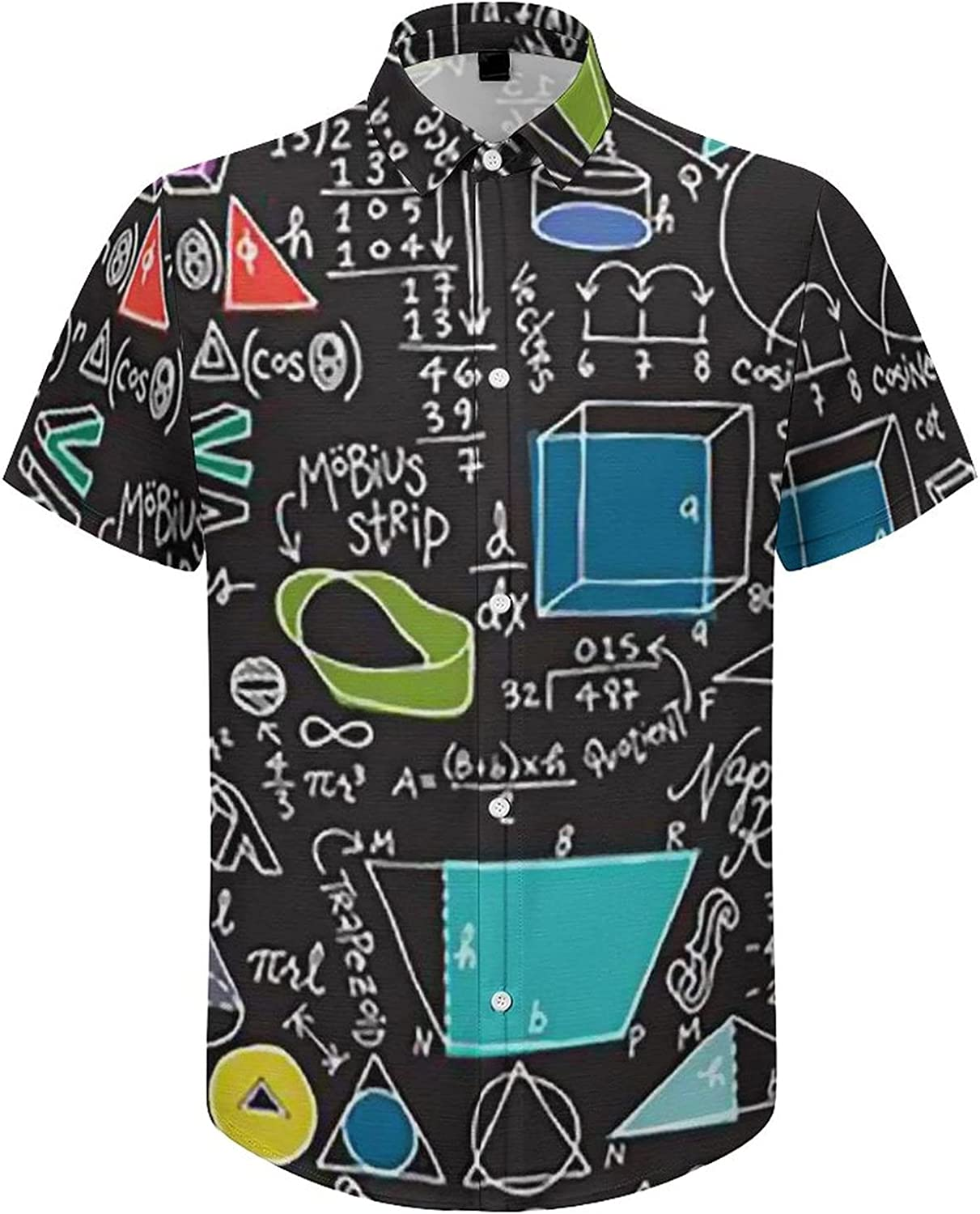 UOER Men's Button Down Shirt Colorado Flag Bear Funky Short Sleeve Tropical Dress Shirts for Holiday