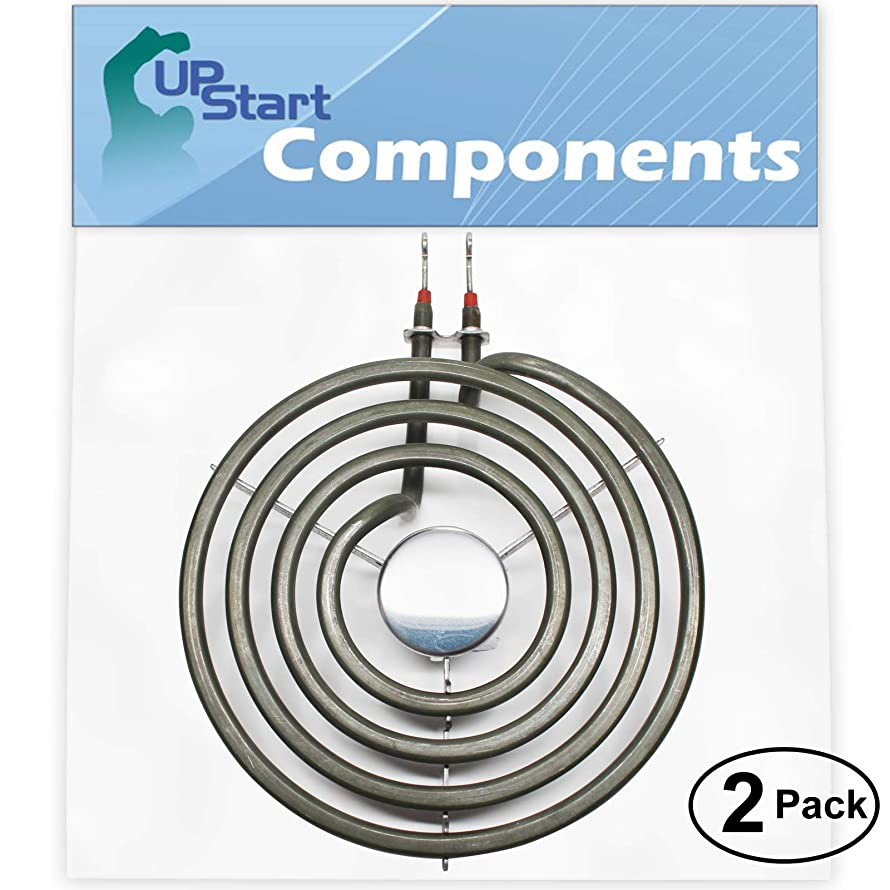 2-Pack Replacement Whirlpool RF363PXVT2 6 inch 4 Turns Surface Burner Element - Compatible Whirlpool 660532 Heating Element for Range, Stove & Cooktop