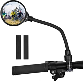 West Biking Bike Mirror Handlebar Mount, Adjustable Rotatable Bicycle Rear View Glass..