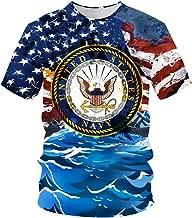 pinata US Navy Shirt Unisex 3D Printed Shirts for Men Short Sleeve Tee Shirts