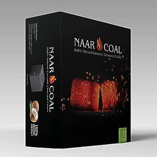 Naar Coal 100% Natural Coconut Hookah Charcoal Cubes, Shisha Coals 1.75 KG, 126 Count