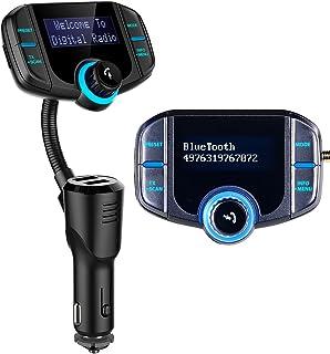 auvisio DAB Adapter: Kfz DAB+ Empfänger, FM Transmitter, Bluetooth, Freisprecher, AUX, USB (DAB Adapter Auto)