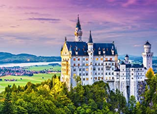 Castle Puzzles for Adults - Neuschwanstein Castle - 428 Wooden Pieces