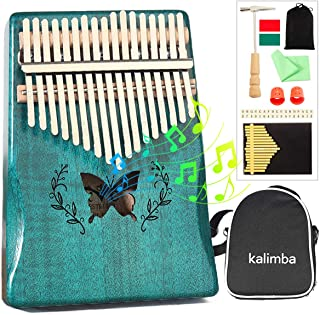 $34 » NAMBM Kalimba 17 Keys Thumb Piano with Tune Hammer,Shoulder Bag and Study Instruction,Portable Mbira Mahogany Wood Finger ...