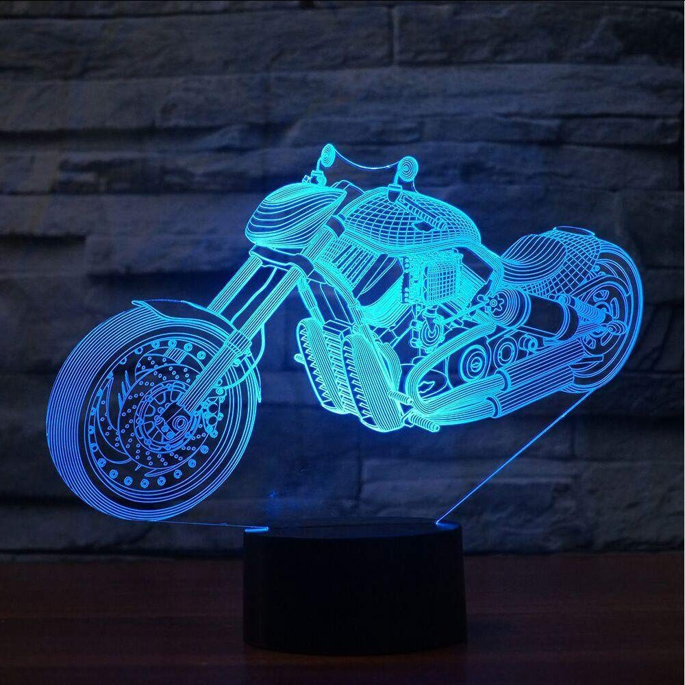 Shuangklei 7 Colors Changing 3D Tabl Visual Mail order Cheap mail order sales Modelling Motorcycle
