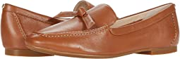 British Tan Soft Grainy Leather/Knot Bow/Natural Stitch