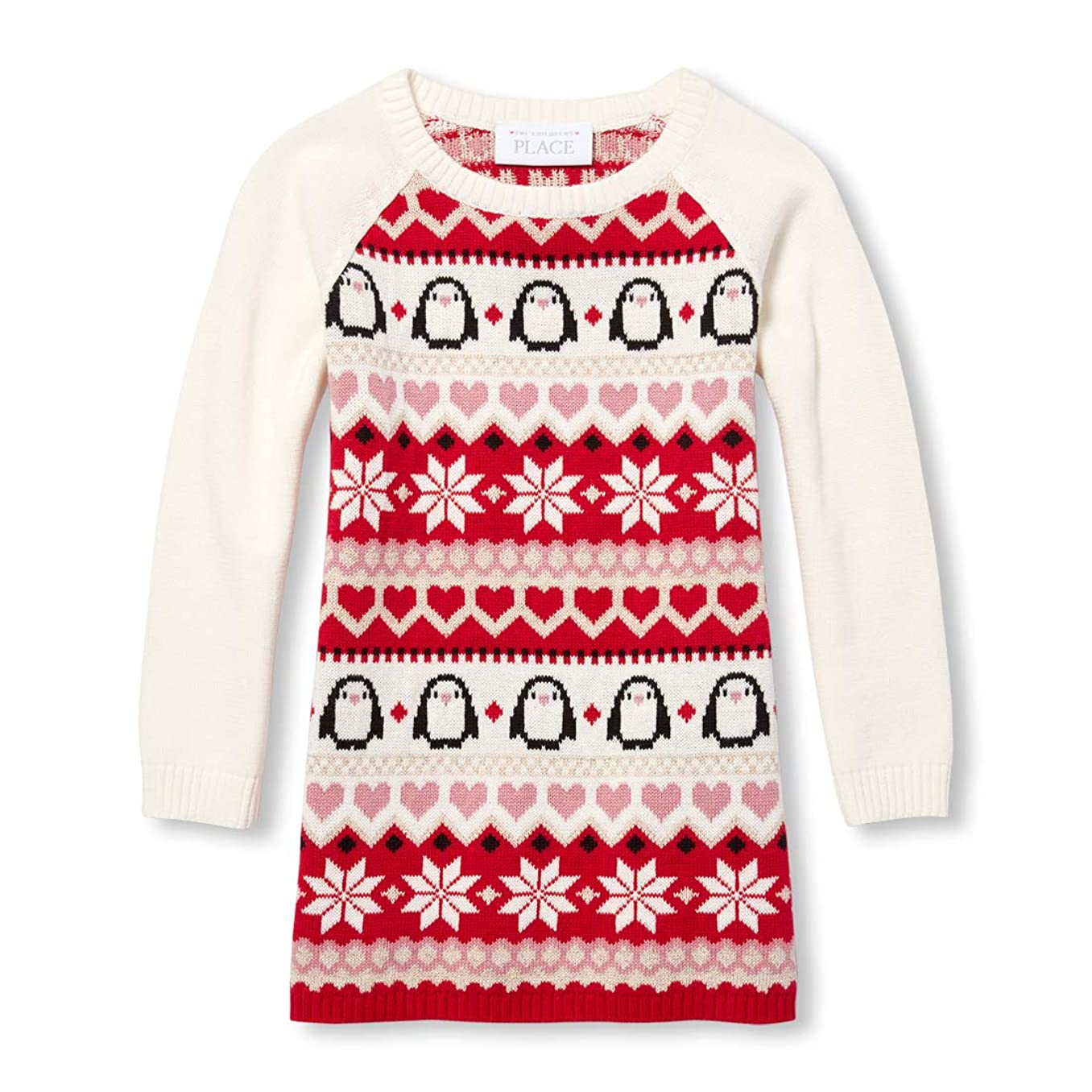 The Children's Place Big Girls' Long Sleeve Sweater Dress
