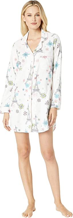 Long Sleeve Classic Notch Nightshirt