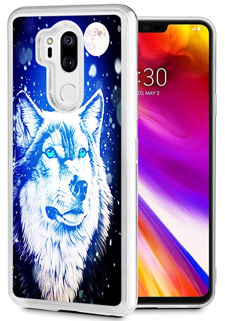 Wolf Case for LG G7 ThinQ,Gifun Slim Soft TPU Premium Flexible Protective Case for LG G7/for LG G7 ThinQ (2018) - Moon and Wolf Case
