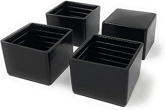 Design61 4x kappen voor vierkante buizen 40 x 40 mm beschermkappen glijders vloerbescherming voor vierkante buizen