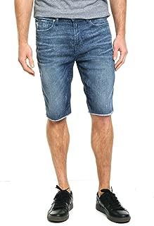 Guess Men's Slim-Fit Raw-Edge Stretch Denim Shorts
