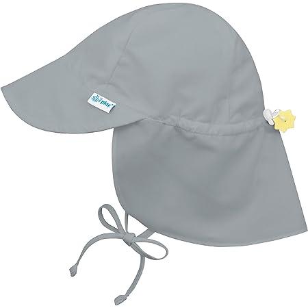 アイプレイ iplay 帽子 フラップサンハット UVカット あごひも付 ベビー キッズ 帽子 TODDLER:2−4歳 グレー