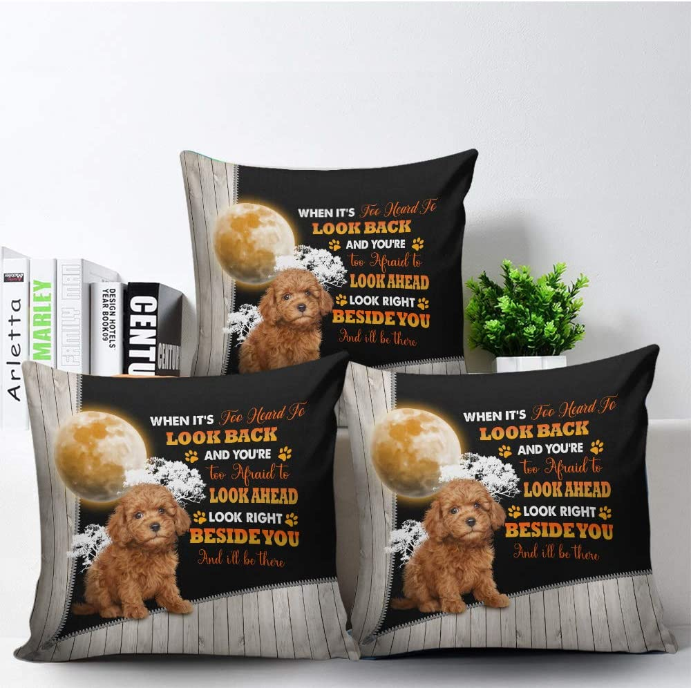 Personalized Poodle Throw Factory outlet Pillow Life with Arlington Mall is Patt Better