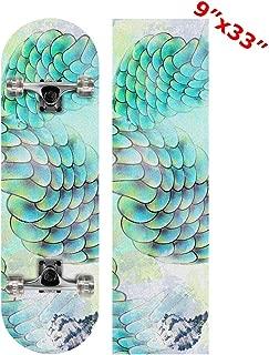 Anneunique Custom Marine Mermaid Scale Skateboard Grip Tape Sheet 9
